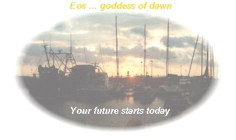 {Autumn dawn in Eastbourne Harbour, with Eos moto your future starts today.}